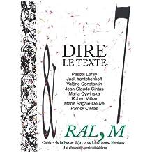 Cahier de la RAL,M nº 7 - Dire le texte