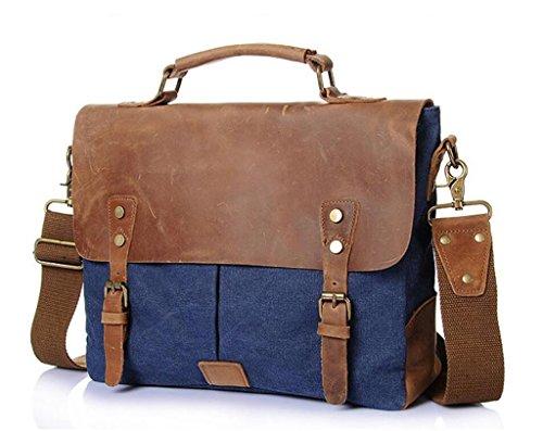 7aeddb1da7bcb ... Blue Vintage Reisen Dark Umh Mann ngetasche Schultertasche Canvas  Handtasche Arbeit Tasche Shfang Aktentasche Einkaufen Coral ...