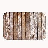 """rioengnakg Old madera pintado alfombrilla de baño Coral Fleece zona alfombra alfombrilla de puerta entrada alfombra alfombrillas para frontal exterior puerta entrada alfombra, 20"""" x 32""""(50 x 80cm)"""
