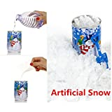 Nieve artificial, hunpta instantánea Xmas Magic reutilizable de polvo de nieve artificial decoración de Navidad random