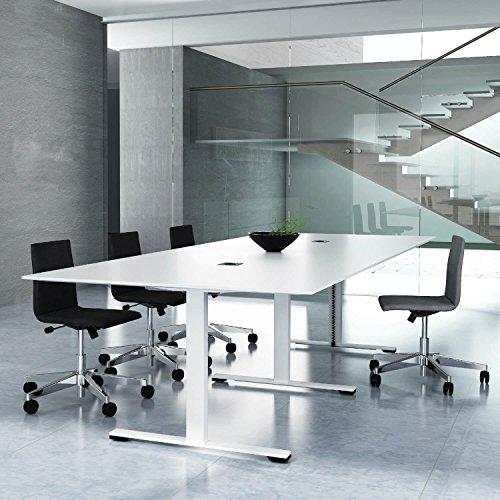 Weber Büro JAZZ Konferenztisch 280 x 120 cm Weiß Besprechungstisch Meetingtisch Tisch,...