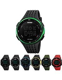 98bfd15afe38 Reloj multifuncional resistente al agua para mujer con temporizador de  cuenta atrás Reloj cronómetro alarma impermeable