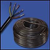 Manguera línea H05VV-F 5G1,5mm²-5x 1,5mm²-Negro-Varios Longitudes a elegir)
