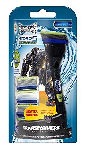 Wilkinson Sword Hydro 5 Power Select Vorteilspack Transformers Edition mit 4 Klingen + Rasierer...