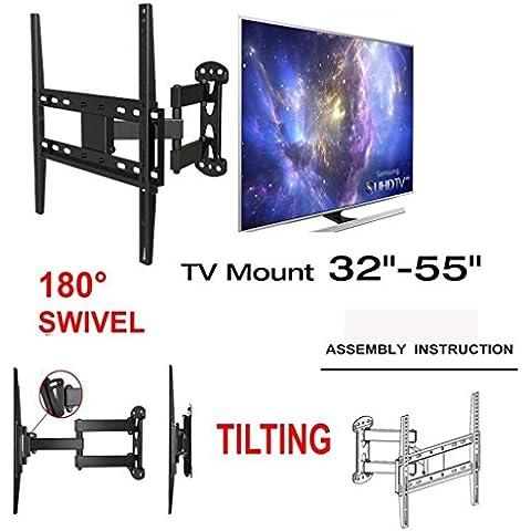 TV Soporte de pared soporte de esquina inclinación giratoria 26–55inch LED LCD TV de Plasma, Capacidad de carga 30kg, max VESA 400x 400mm para Sony/LG
