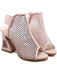 GAOLIXIA Zapatos de tacón alto para mujeres Zapatos de boca de pescado de  moda nueva de e2e595e9518c
