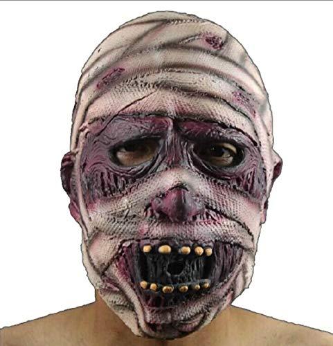 Muster Face Ghost Kostüm - Halloween Maske Latex Horror Bloody Face Scary Ekelhaft Ghost Mask für Erwachsene Kostüm Party Cosplay Halloween
