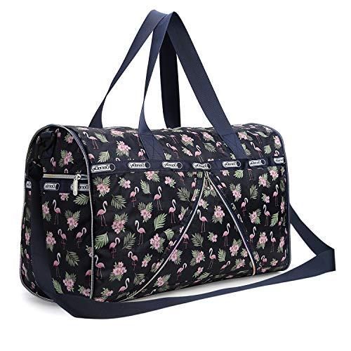 PELLOR 50L Faltbare Wasserdicht Duffle Bag Reisetasche Aufbewahrungstasche Gepäcktasche für Reisen Urlaub Aufbewahrung (Violett)