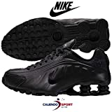 Nike Shox R4 (GS), Scarpe da Atletica Leggera Bambino, Nero (Black/Black/Black/White 000), 38 EU