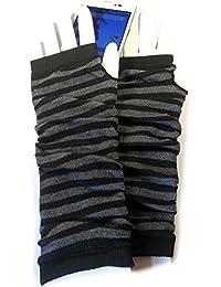 PRESKIN - gants manchette élégants , Cool - mais chaleureux, Gants en motif à rayures, sentiment plus intuitive pour les smartphones, Navi, tablette ...