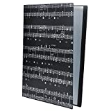 Punk Taille A4 Efile Display Book fichier Rapport pour feuilles A4 Artworksmusic Feuilles Coupée Noir Music Sheet Black