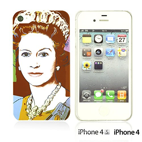 OBiDi - Celebrity Star Hard Back Case / Housse pour Apple iPhone 4S / Apple iPhone 4 - Beautiful Queen Elizabeth II Queen Elizabeth II Pop Art