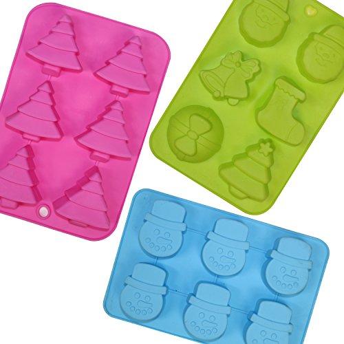 Set di 3grandi Natale Cioccolato/stampo sapone Stampi in silicone