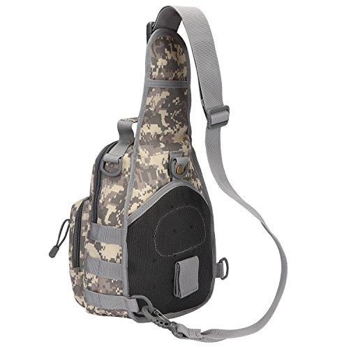 S-ZONE leggero Tactical Assault Piccolo una cinghia Sling MOLLE Backpack ACU Camo