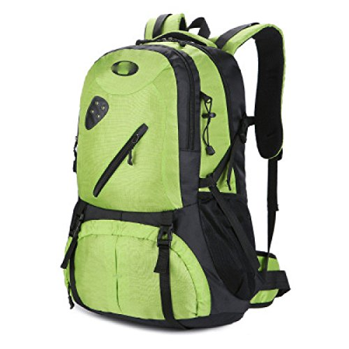 LQABW Outdoor-Nylon Wasserdichtes Haltbares Wandern Berg Beiläufiges Reduzierte Atmungsaktiv Rucksack Tasche Green