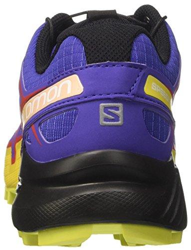 Salomon Speedcross 4 W, Chaussures de Trail Femme, Rouge Violet (Spectrum Blue/sulphur Spring/fiery)