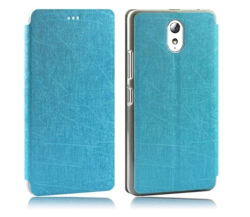 GoRogue Pudini Rain PU Leather Slim Flip Cover Case with Convertible Back Stand for Lenovo P1m (Blue)  available at amazon for Rs.199