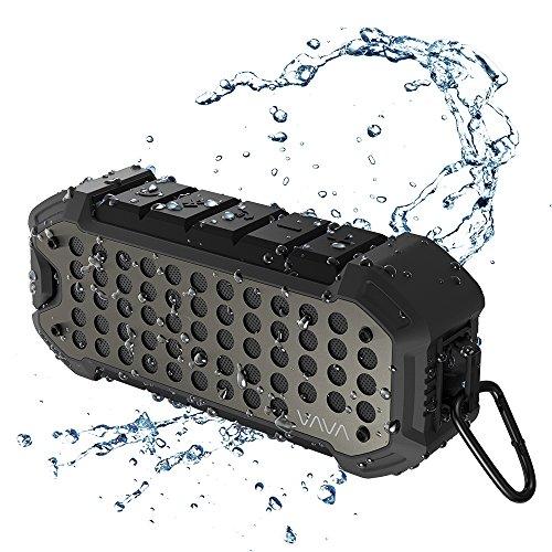 Outdoor Lautsprecher Wasserdicht, VAVA VOOM 23 Speaker Bluetooth 4.1 mit Eingebautem Mikrofon Staubdichte 24 Stunden Akkulaufzeit 5200mAh für Aktivitäten im Freien