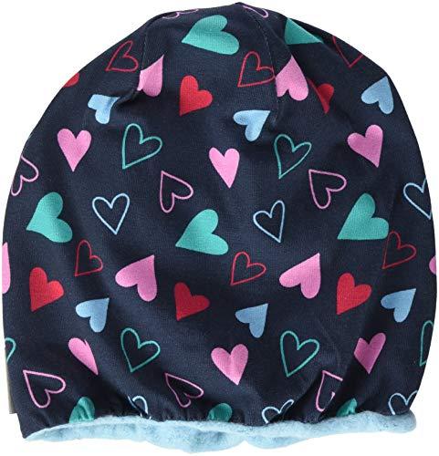 Sterntaler Slouch-Beanie für Mädchen mit Herzchen, Alter: ab 12-18 Monate, Größe: 49, Blau (Marine)