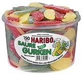 Haribo Pepino Ácido, Gominolas de Fruta, 150 Unidades, Tarro de 1350 g