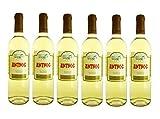 6x Anthos Weißwein Tsantali je 750ml 11,5% + 2 Probier Sachets Olivenöl aus Kreta a 10 ml - griechischer Weiß Wein Weißwein Griechenland Wein Geschenk Set