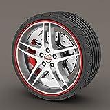 Seat Ibiza Red Rimblades Alloy Wheel Edge Ring Rim Protectors Tyres Tire Guard Rubber Moulding