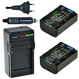 Chili Power NP-FV50, NP-FV30, NP-FV40KIT: 2x Batterie + Chargeur pour Sony DCR- SR88sr15, SX15- SX85, Fdr-CX130- cx900ax100, HDR, HDR-HC9, pj10- pj810, td30V, xr150-nx30u XR550V, hxr, NX70U