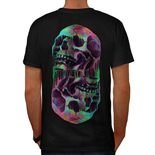 Schmelzen Schädel Fantasie Herren S T-shirt Zurück | (Hexe Schmelzen)
