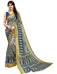 [Sponsored Products]Glory Sarees Women's Bhagalpuri Art Silk Saree(vnart35_Blue)