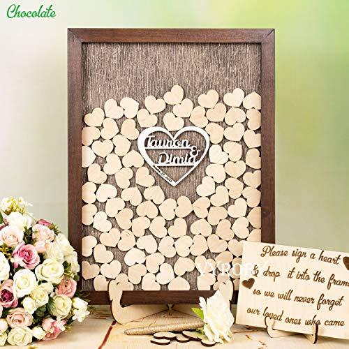 ox Gästebuch Hochzeit Gästebuch Ideen Drop Box Rahmen Rustikale Hochzeit Dekor Holz Herz Hochzeit Gästebuch Alternative Dropbox Schild ()