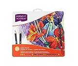 crayon aquarelle, crayons de couleur,crayons de couleurs adultes, crayons colorés solubles dans l'eau,crayon de couleurs professionnel- Cadeau Ideal Artiste (24)
