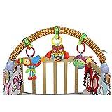 Baby-Bett/Krippen u. Buggy/Spaziergänger-Bogen Dual-use Hängen schließen ein Teether Musik-Plüsch-Spielwaren und Rattle,Morbuy ab der Geburt geeignet Activity Spielzeug (Papagei Küken Adler)