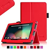"""Fintie Premium PU Leather Case Cover for 7 Inch Android Tablet inclu. iRULU eXpro X1S 7"""" / eXpro 1 Tablet 7"""", Dragon Touch Y88X Plus 7 Inch, BTC Flame UK 7 Inch, it 7 Inch Tablet, Tecwizz 7 Inch, Alldaymall A88X / A88S 7 Inch (and more), Orange"""
