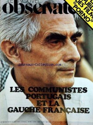 NOUVEL OBSERVATEUR (LE) [No 562] du 18/08/1975 par COLLECTIF
