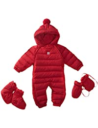 Bebone Bebé Niños Niñas Traje de Nieve Abrigo con Zapatos y Guantes 3piezas Conjuntos Snowsuit