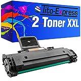 PlatinumSerie® 2x Toner-Patrone XL Schwarz kompatibel für Samsung MLT-D1082S ML-1640 ML-1642K ML-1645 ML-2240 ML-2240K