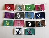 Sylter Nähkultur 14 Handmade with Love Labels Mix mit 14 Verschiedenen Farben! Einnähetiketten Webetiketten Textiletiketten Kleideretiketten