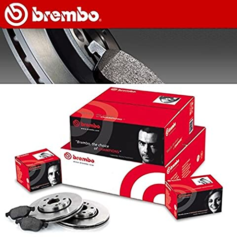 Brembo Front Brake Pads and Discs for Peugeot 207 1.6 HDI with 66 and 68 kW Belina Oil