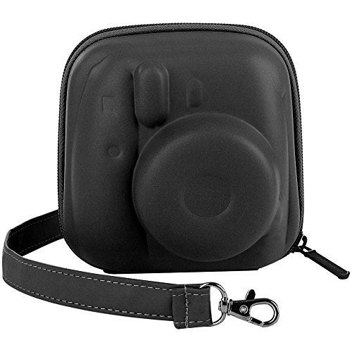 Katia Hard Case Eva Tasche für Fujifilm Instax Mini 9 Instant Kamera, Fujifilm Instax Mini 8 Instant Film Kamera, mit Schultergurt und Tasche für Foto-Filme Zubehör/Selfie Objektiv/Batterie - Schwarz