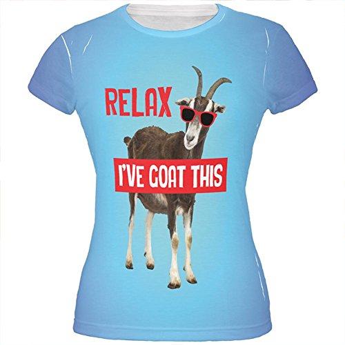Entspanne ich mich Ziege habe diese ganzen Junioren T Shirt Multi LG