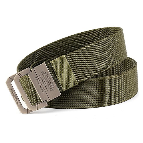 MUMUGO Tactical Military Equipment Belt Man Double Ring Buckle Thicken Canvas Belts for Men Waistband