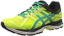 Asics Mens Gel-Cumulus 17 Flash Yellow, Pine and Black Running Shoes - 7 UK/India (41.5 EU) (8 US)