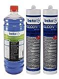 Beko Allcon 10 Konstruktionsklebstoff + Scheibenfrostschutzmittel im praktischem Set