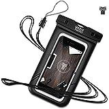 Funda Impermeable móvil YOSH® Bolsa para Móvil Samsung galaxy S6 S7 edge Note 4 5, iPhone se 5 5s 6 6s Plus, HUAWEI P7 P8 P9 Honor 6 7 Mate, IPX8 Certificado, Hasta 6 pulgadas✪Garantía De Por Vida✪(negro)