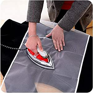 BHAVYATA 1 PC Protective Insulated Ironing Mesh for Clothes Delicate Garment Cloth Guard Home Press Mat Heat Resistant Reusable & Washable (40 x 60 cm)