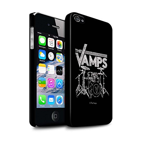 Offiziell The Vamps Hülle / Matte Snap-On Case für Apple iPhone 4/4S / Pack 6pcs Muster / The Vamps Graffiti Band Logo Kollektion Schlagzeug