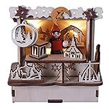 Weihnachts-Marktstand mit LED-Beleuchtung, stimmungsvolle Weihnachts- und Adventsdeko, 11cm, natur