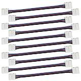Liwinting 10pcs 5 polig LED verbinder Verbindungs stück-Kabel für 10mm breites SMD 5050 RGBW LED Streifen LED-Band, Eckverbinder-Adapter zum Verbinden von 2 LED-Streifen