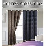 Forentex - Cortina Opaca (U-DP129), Marrón, 145 x 260 cm, curtain aislante de calor y frio, reducción ruido, anti polvo, acabados ollaos acero inoxidable. 1-4 cortinas paga solo un envío, descuento equivalente al finalizar la compra.