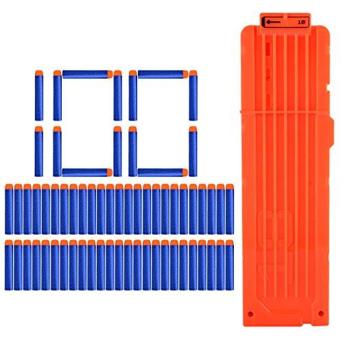 HB 1Pack 18-Pfeile Clip Magazin + 100Pack Darts Pfeile Zubehör für Nerf Serie (18 Pfeile)